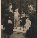 With his parents and his sister at the National Garden 1939 www.cinematheia.com