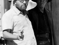 Sergio Leone with Henry Fonda during a location shoot for Once Upon a Time in the West, 1968 www.cinematheia.com