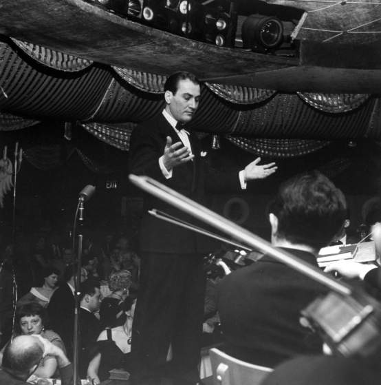Artie Shaw & his band while playing at Bop City on opening night.